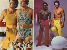 Septiņdesmito gadu vīriešu modes reklāmas