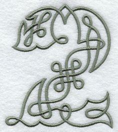 Celtic Knotwork Number 2 - 5 Inch