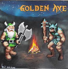 Golden axe pixel art on canvas ! Axe, Pixel Art, Canvas Art, Movie Posters, Film Poster, Painted Canvas, Canvas Wall Art, Billboard, Film Posters