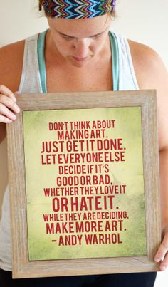Andy Warhol Quote Print Art Quote Poster 11 x by SmartyPantsStudio, $24.00