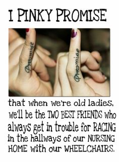 what my sister would do if she saw this. Lets hope she never does. I am too old for tattoo's, we can all do it along with our Pink, Purple, Blue and yellow hair!! Bff Tats, Bestie Tattoo, Unique Tattoos, Cute Tattoos, Tatoos, Finger Tattoos, Dream Tattoos, Small Tattoos, Best Friend Tattoos