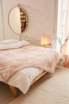 Valda Pom Folk Tapestry, bedroom, home decor, interior design, Master Bedroom Design, Home Decor Bedroom, Bedroom Ideas, Girls Bedroom, Bedroom Styles, Bedroom Designs, Modern Bedroom, Bedroom Furniture, Bedroom Inspiration Cozy