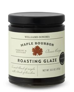 Williams-Sonoma Maple Bourbon Roasting Glaze #williamssonoma  30 minutes prior to your turkey being done, brush this all over.... you will thank me!