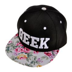 ZLYC Women Floral Tropical Print Neon Embroidered Word Snapback Baseball Cap Hat, White