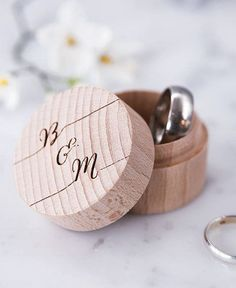 A personalised wooden calligraphy ring box; an ideal wedding ring holder; alternative ring pillow for your ring bearer to carry. A proposal ring box or a wedding or engagement gift for couples tying the knot!