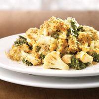 Cauliflower, Spinach & Chicken Gratin