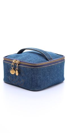 WGACA Vintage Vintage Chanel Denim Cosmetic Case | SHOPBOP