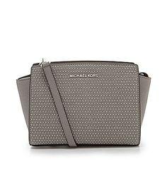 MICHAEL Michael Kors Selma Micro Studded Large Medium Messenger Bag #Dillards