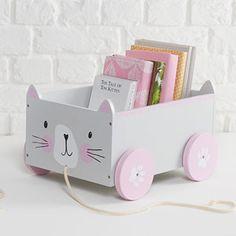 Book Storage Cart - Miss Cat