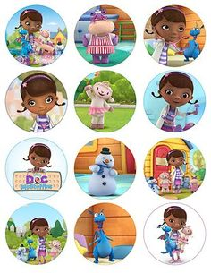 Doc McStuffins cupcake toppers! Adorable!