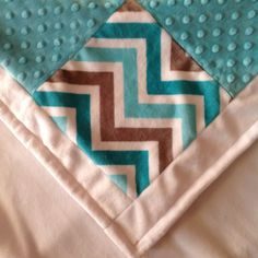 SAVE AN ADDITIONAL 10% USING COUPON CODE BONUS10  SALE! Shannon Fabrics Cuddle Teal (Topaz, Turquoise) Gray Baby Quilt, Minky Baby Blanket, Boy