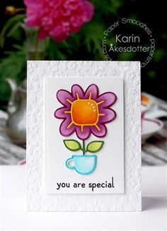 You Are Special card by Karin Akesdotter for Paper Smooches - House Plant Die