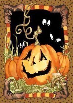 Jack Pumpkin Halloween Garden Flag by Toland