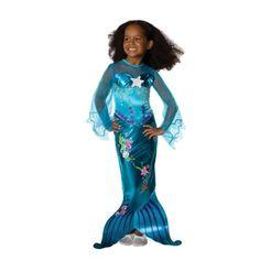 Verkleden is een feest met deze Magisch blauwe zeemeerminnen jurk van het merk Rubies. De mouwen zijn gemaakt van organza.