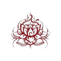 Lotus Flower Tattoo Wrist, Red Lotus Tattoo, Red Dragon Tattoo, Lotus Tattoo Design, Flower Tattoos, Red Ink Tattoos, Spine Tattoos, Cute Tattoos, Body Art Tattoos