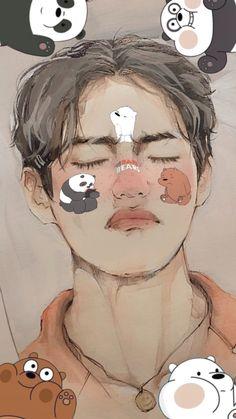Taehyung Fanart, Bts Taehyung, Bts Chibi, Arte Sketchbook, Bts Drawings, Bts Fans, Kpop Fanart, Bts Pictures, Foto Bts