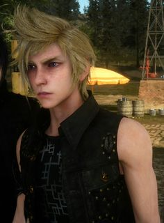 Sings to Prompto: You are my sunshine, my only sunshine You make me happy…
