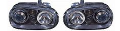 Vw golf mk4 1998-2004 headlights #angel eyes black #inner #including fog 1 pair 3,  View more on the LINK: http://www.zeppy.io/product/gb/2/191910142366/