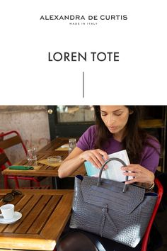 Are you looking for a designer leather handbag? Click through to check out the Loren Tote, handmade in Italy with smooth
