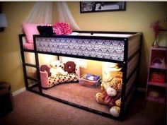 I'm thinking a little play area underneath Dani's bed would be a good space save in a small room