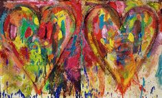 """Jim Dine......  Old Heaven  2012  Acrylic, sand and charcoal on canvas  24"""" x 40-1/4"""" (61 x 102.2 cm)"""