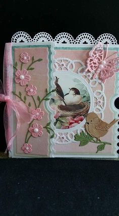 Ticket Card, Shabby Chic Cards, Dress Card, Birthday Cards For Women, Small Cards, Bird Cards, Marianne Design, Pretty Cards, Creative Cards