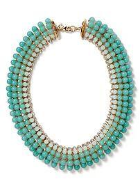 aqua ombre necklace at Banana Republic