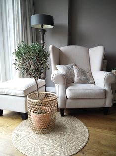 Ikea Living Room, Living Room Chairs, Small Sitting Areas, Wooden Sofa Set, Fancy Houses, Fireplace Design, Home Decor Styles, Home Interior Design, Home And Living