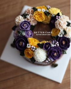 Done by my student  - Buttercream flower cake  Any inquiries about BETTER CLASS, Plz contact me through LINE or Email. Mailbettercakes@naver.com Linebetter_cake FacebookBetter Cake Kakaotalkbettercake  #buttercream#cake#베이킹#baking#better