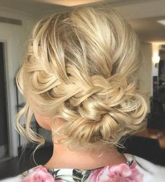 Low Updo With A Braid