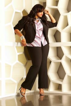 Signature by Ashley Stewart Campaign 2013 with Model Anita Marshall.  Signature by Ashley Stewart Blazer 7eedb6d4c706a
