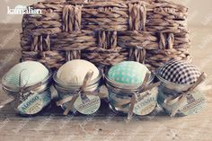www.kamalion.com.mx - Recuerdos / Favors / Detalles Personalizados / Vintage / Bautizo / It's a boy / Mint / Menta / Kit de costura / Mason jar / Sewing kit / Costureros