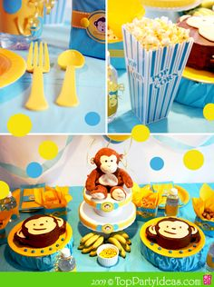I like the look of the monkey cakes- should be easy to make at home.  Anabelle wants a monkey-piano party!  I might actually do cupcakes...