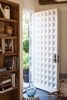 A Father/Daughter Team Designs an Enchanting Palisades Home Slide 25 Main Door Design, Front Door Design, Entrance Doors, Front Doors, Entrance Ways, Front Entry, Cool Doors, House Doors, Windows And Doors