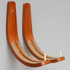 Longboard Wall Rack - Hawaiin Gun Rack - could be good for hanging Dads surfboard