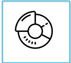 Doughnut Chart Icon This page contains the vector icon, as well as variations of this icon in different visual styles, and related icons. All icons are in the flat vector style, however, differ by the line thickness, fill, and corner radius.