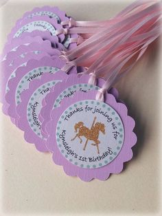 This item is unavailable Carousel Party, Carousel Birthday, Horse Birthday Parties, Birthday Favors, Party Invitations, Party Favors, Tassel Garland, Carousel Horses, Party Items