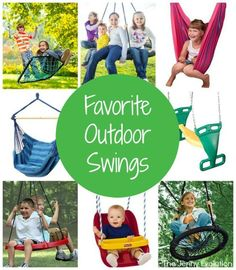 My Favorite Outdoor Swings for Kids (and the kid in all of us) | The Jenny Evolution