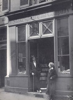 James Joyce with Sylvia Beach, founder of Shakespeare and Company, publisher of Ulysses.