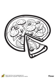 Une exquise pizza aux oignons et merguez à rehausser avec de belles couleurs.