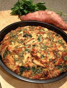 Édesburgonyás frittata Light Recipes, Clean Recipes, Low Carb Recipes, Cooking Recipes, Healthy Recipes, Quiches, Healthy Cooking, Healthy Eating, Health Lunches