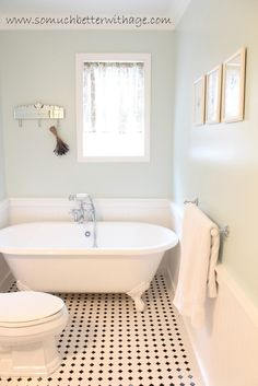 LOVE the tile and paint color! If I get to redo a bathroom one day I'm definitely using this tile.