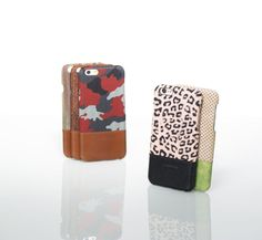 liberosystem Back Cover iphone case  -Leather & Fabric combination design -Mixing trendy color and textile -Protection against scratching and dirty with rubber coated PC shell