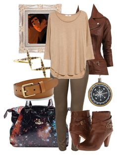 """Day 128: Jim Hawkins (Treasure Planet)"" by onceuponascreen ❤ liked on Polyvore featuring Vivienne Westwood, Elizabeth and James, Comme des Garçons, ONLY, MANGO, Madden Girl and FOSSIL"