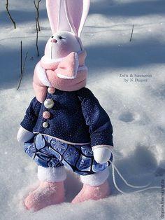 Купить Заяц с санками - заяц игрушка, игрушка заяц, зайцы, зайка, зайчик, зайчонок, зайчики