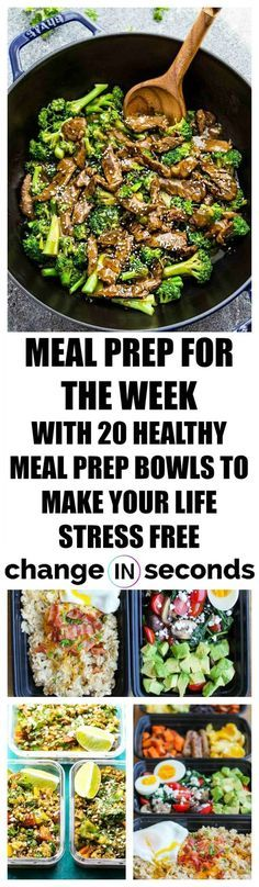 Weight Loss Plans Military Meal Prep For The Week With 20 Healthy Meal Prep Bowls To Make Your Life Stress Free! Loss Plans Military Meal Prep For The Week With 20 Healthy Meal Prep Bowls To Make Your Life Stress Free! Meal Prep Bowls, Easy Meal Prep, Healthy Meal Prep, Easy Meals, Healthy Meals For Dinner, Clean Eating Recipes, Clean Eating Snacks, Diet Recipes, Healthy Eating