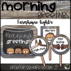 Morning Greeting and Goodbye Choices- Farmhouse Lights | Minimal / No-Contact