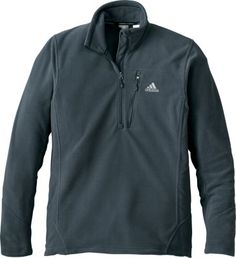 adidas® Hiking Reach Out 1/4-Zip Pullover 100% polyester Polarfleece 200 construction Relaxed fit Adjustable hem with drawcord