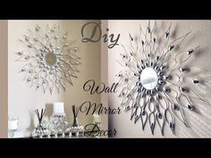 Wall Decoration Diy Mirror Wall - Diy Quick And Easy Glam Wall Mirror Decor Wall Decorating Idea Dollar Tree Diy Mirror Wall Art Best Inexpensive Glam Diy Diy Swirl Mirror Wall Decor W.