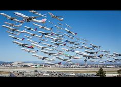 LAX Photographed From The Same Spot Over An Eight Hour Period //23 Breathtaking Photos Of Aircraft In Action - Odometer.com